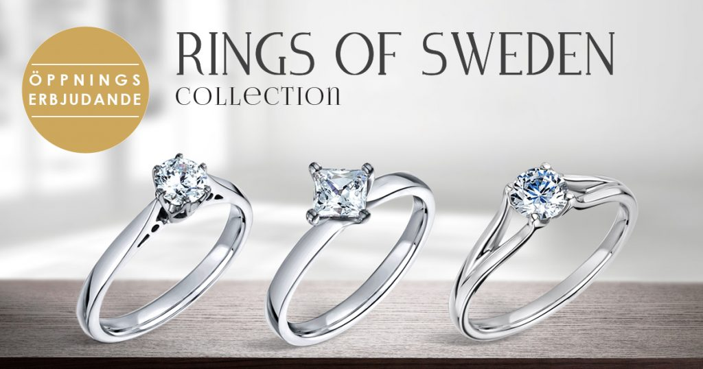solitärringar rings of sweden collection vigselringar förlovningsringar