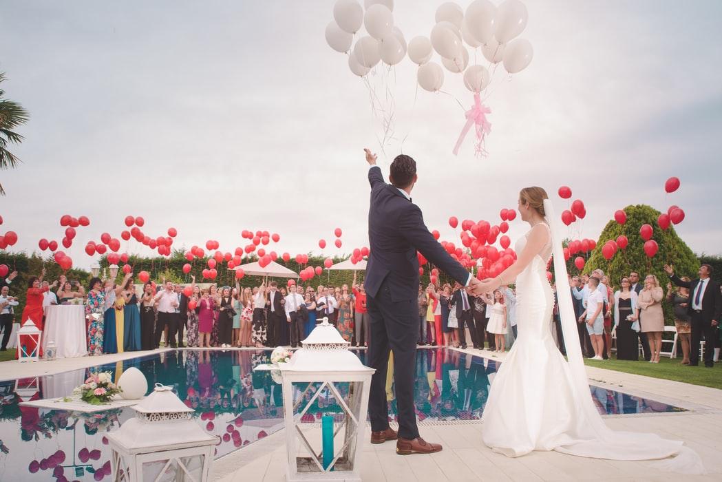 Ballonger bröllop